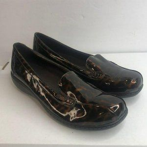 Clarks Collection Black Patent Slip Ons 9.5M